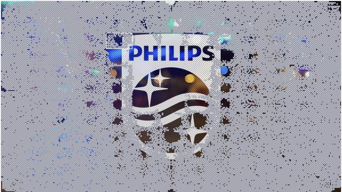 Nuevo logo de Philips, pixel por pixel