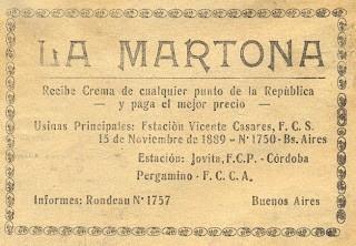 Comunicación de La Martona, 1889 - Mausoleo de Marcas Corporate