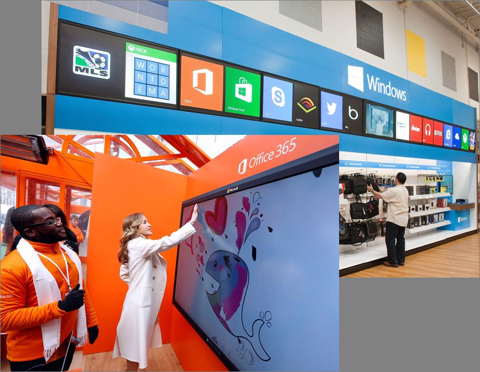 Cada territorio se despliega en grandes superficies de color dentro de las tiendas