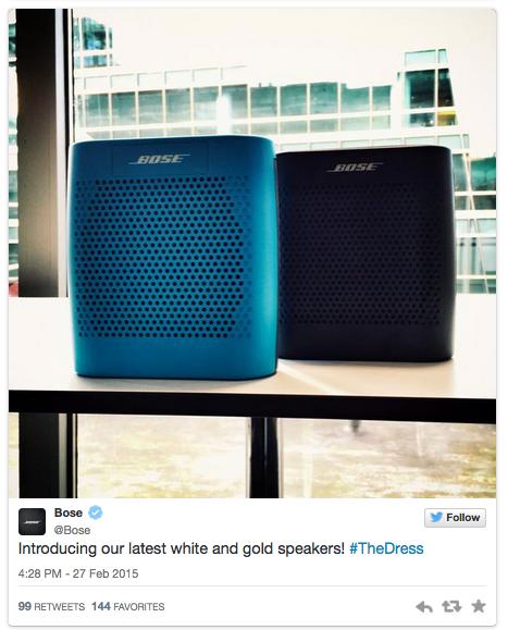 #TheDress - Bose - Noticias de Marcas Corporate