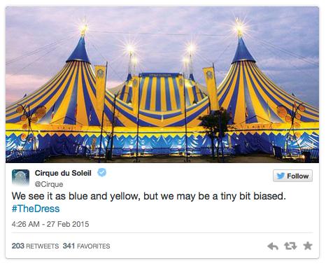 #TheDress - Cirque du Soleil - Noticias de Marcas Corporate