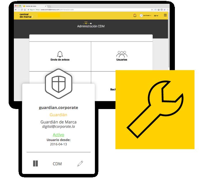 Corporate Central de marca - plataforma gestion online - gestion usuarios proveedores