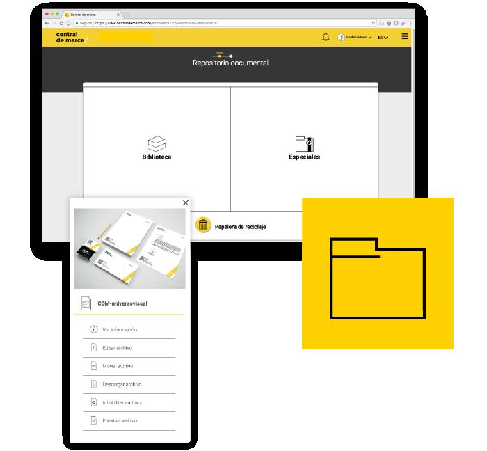 Corporate Central de marca - plataforma gestion online - repositorio documentos archivos digitales